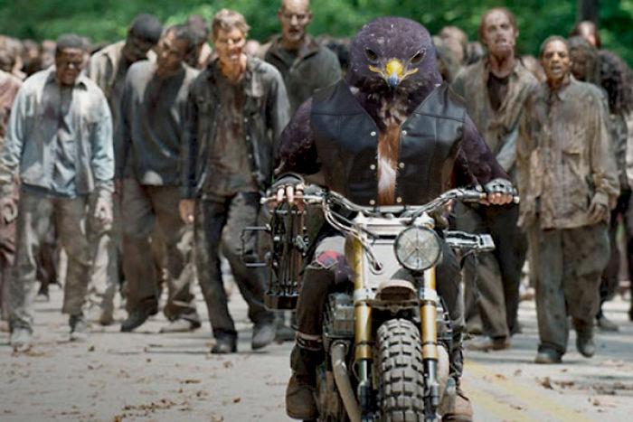 halcon entre zombis