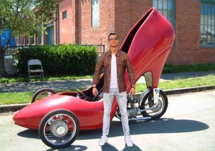 tacon ronaldo carro