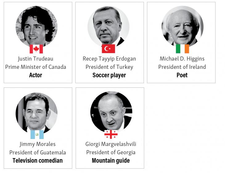 presidentes arte y entretenimiento