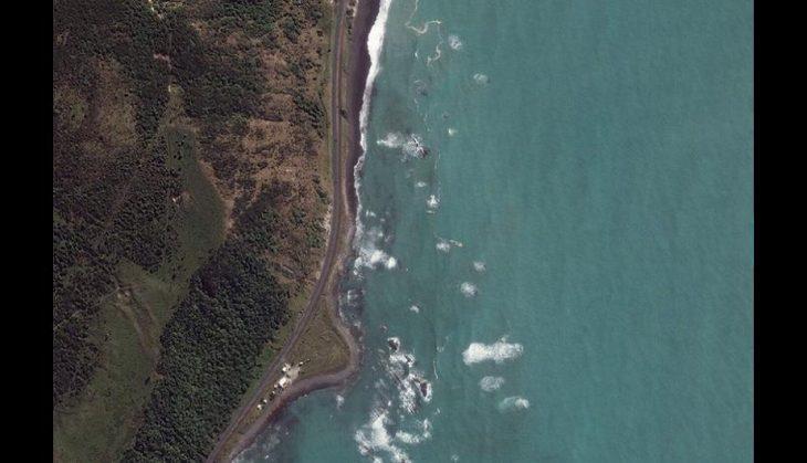 costa de Waipapa antes del sismo