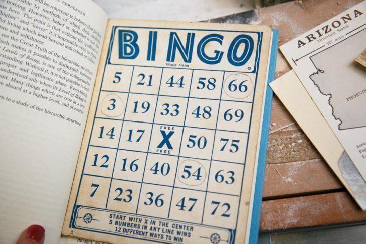 Tarjeta antigua de Bingo