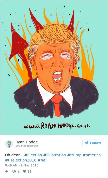 clinton diablo caricatura
