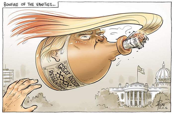 molotov trump caricatura
