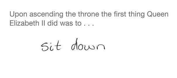 trono reina examen