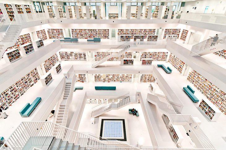 Biblioteca de la Ciudad de Stuttgart, en Stuttgart