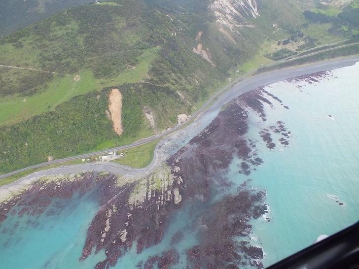 Costa de Waipapa después del sismo
