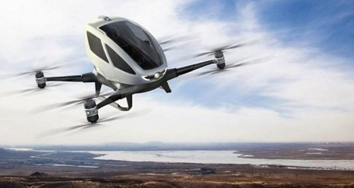 dron volador para pasajeros
