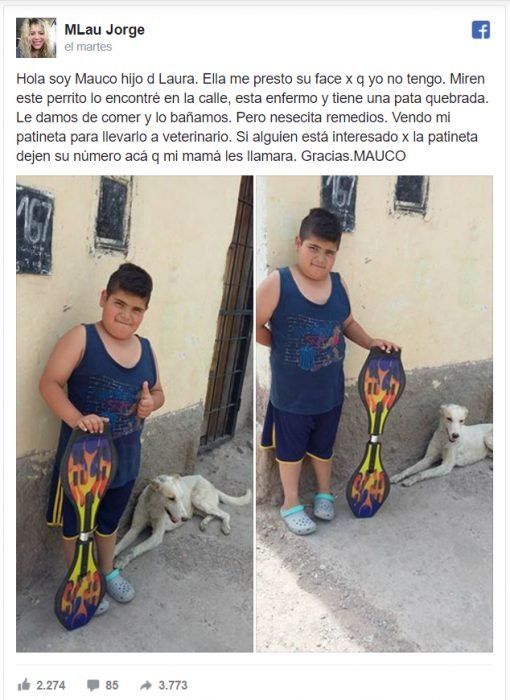 estado de facebook niño