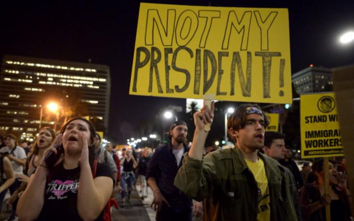 Manifestaciones por triunfo de Trump