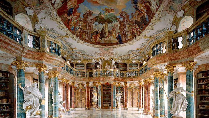 Biblioteca de la Abadía de Wiblingen, en Ulm