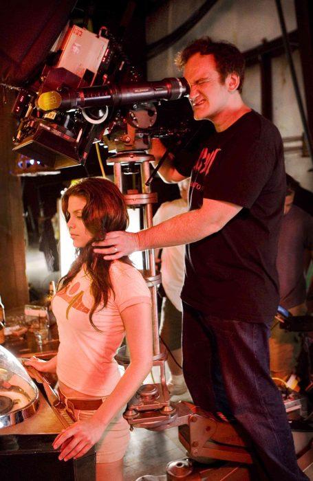 Quentin Tarantino en el set