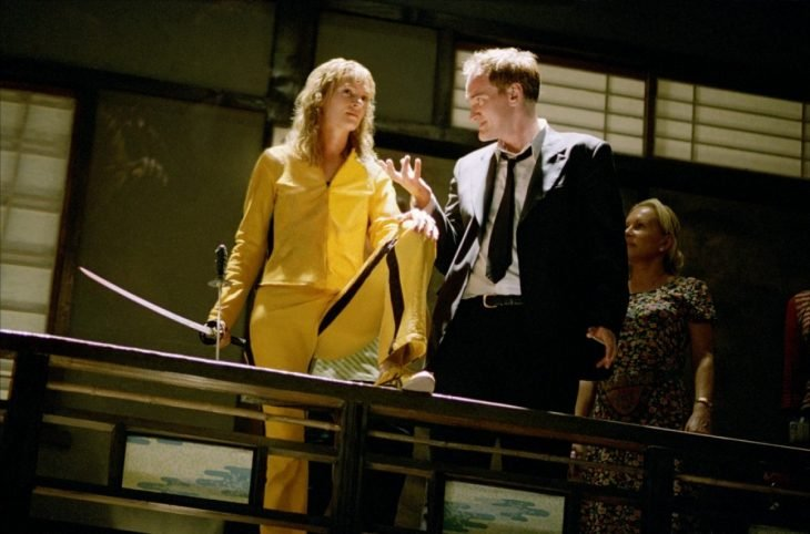 Tarantino en el set de Kill Bill