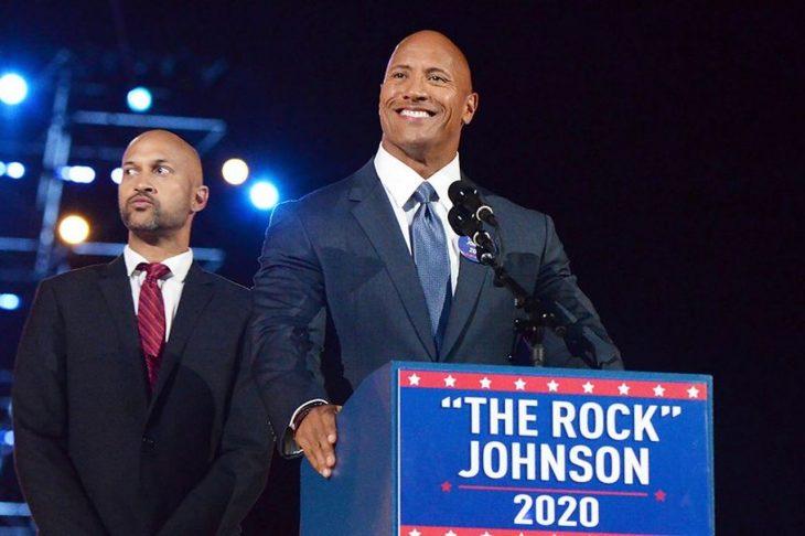 La Roca no descarta lanzarse como candidato en 2020