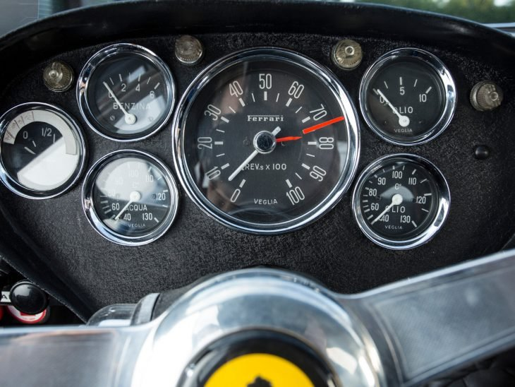 Tablero de 1962 Ferrari 250 GTO azul