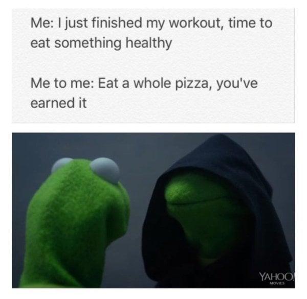 kermit meme pizza
