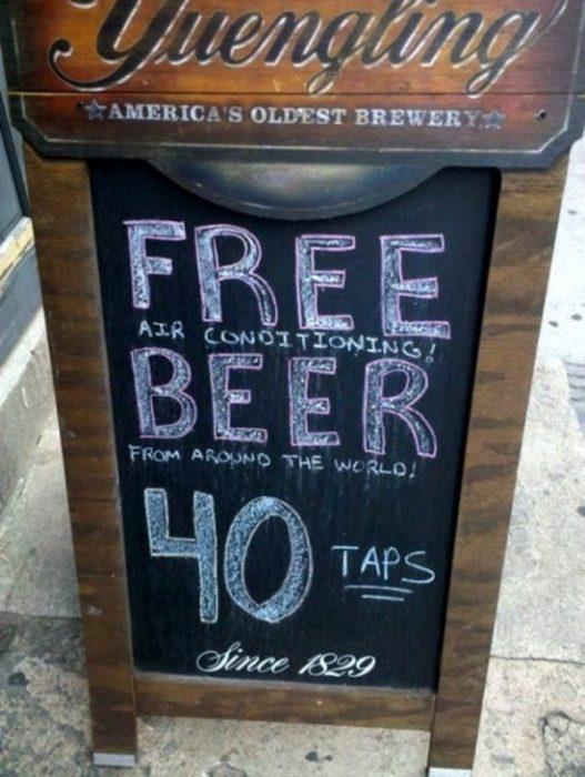 letrero bar gratis