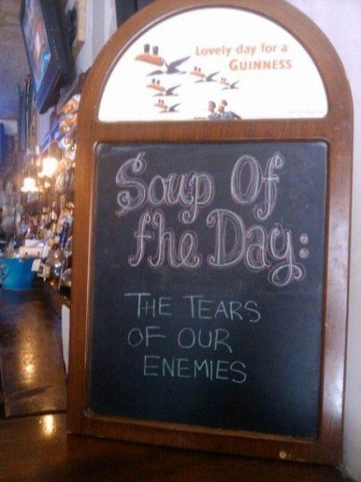 letrero bar sopa