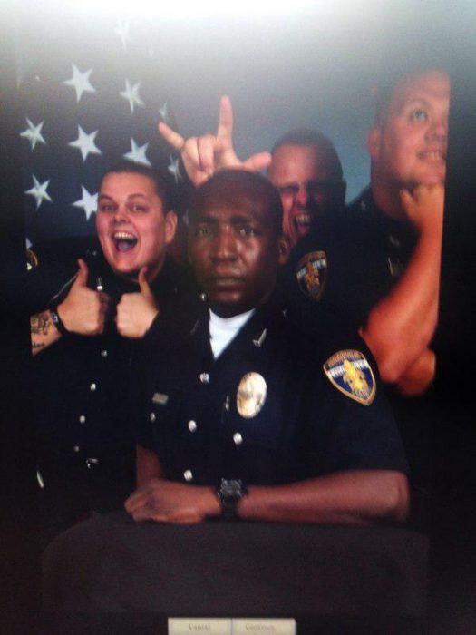 policias selfies