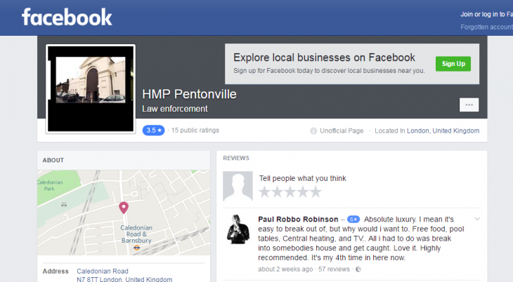 Pagina Pentonville