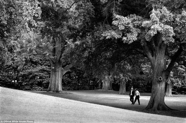 obama en parque