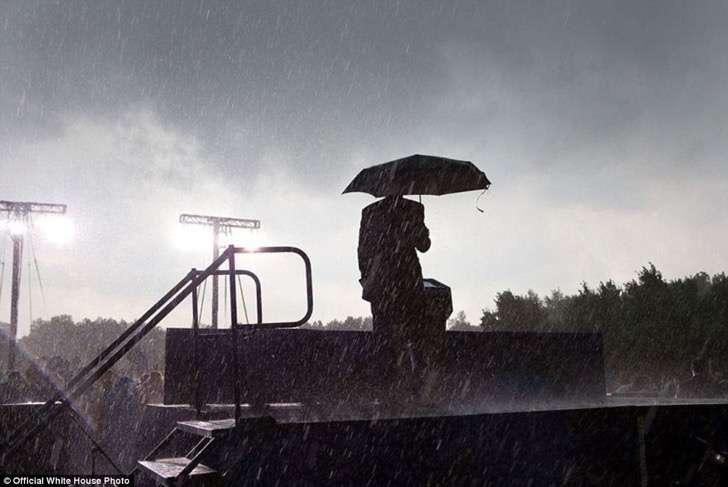 lluvia en chicago obama