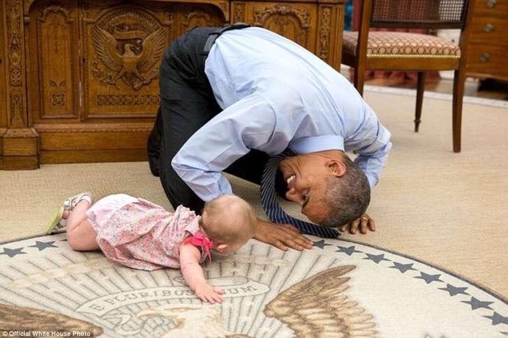 obama y bebe