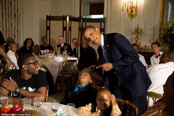 obama con niños