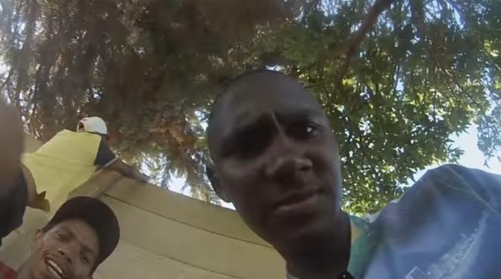 Captura gopro de un africano