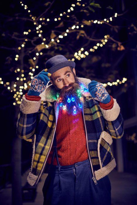 barba con luces