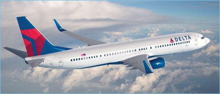 Avión de Delta Airlines en vuelo