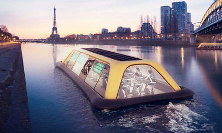 Gimnasio flotante en el Río Sena