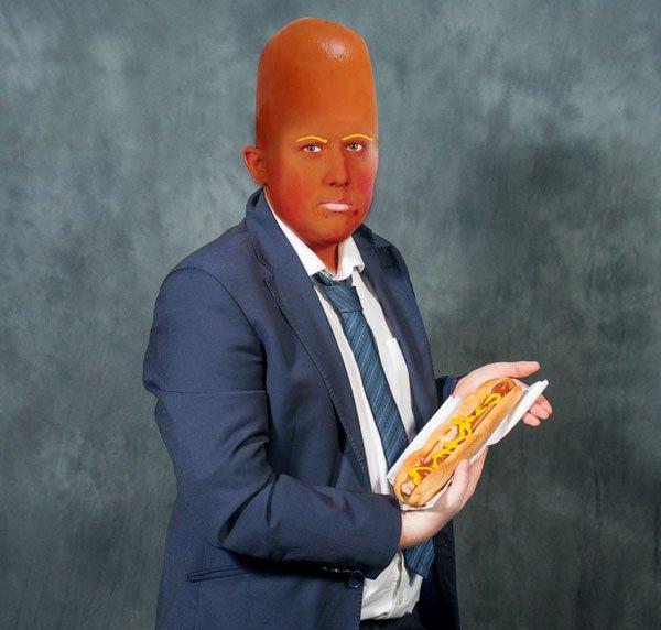 El joven del hot dog