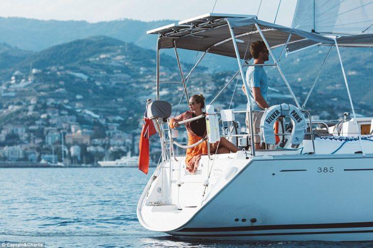 Charlie on Boat