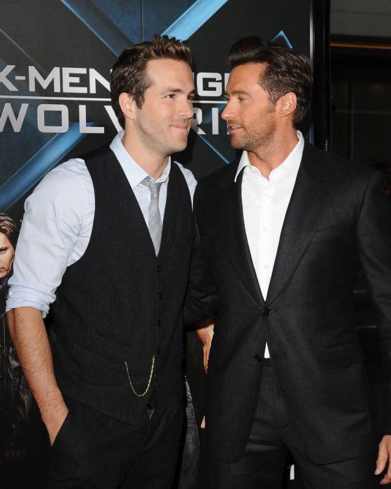 Hugh Jackman y Ryan Reynolds en premiere