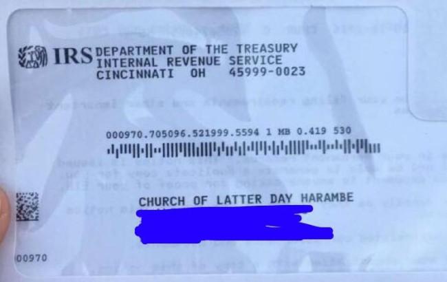 Aprobación de la Iglesia de Harambe