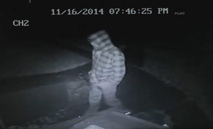 Ladrón captado en cámara de seguridad