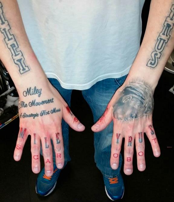 Tatuajes sobre Miley Cyrus