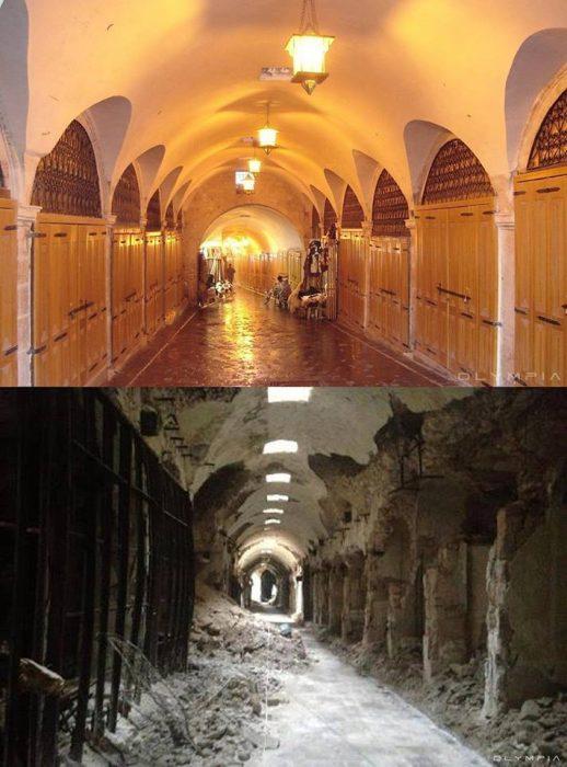 Antes y después en fotografías de Aleppo
