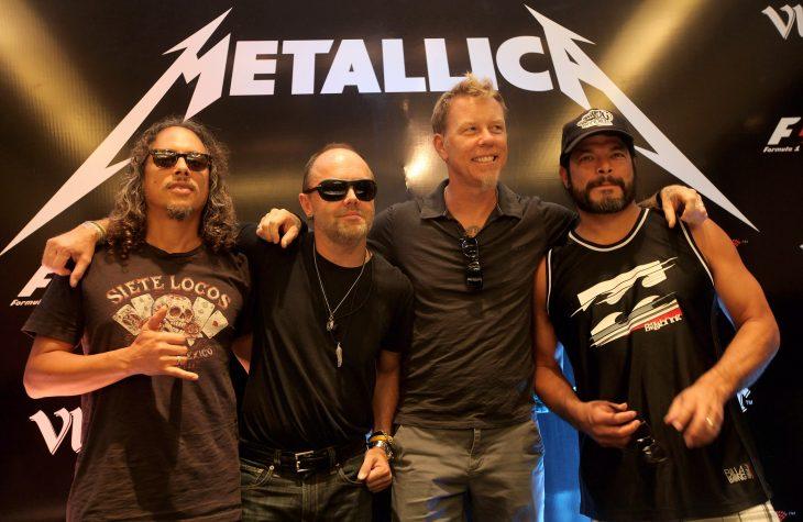 Metallica posan para la foto