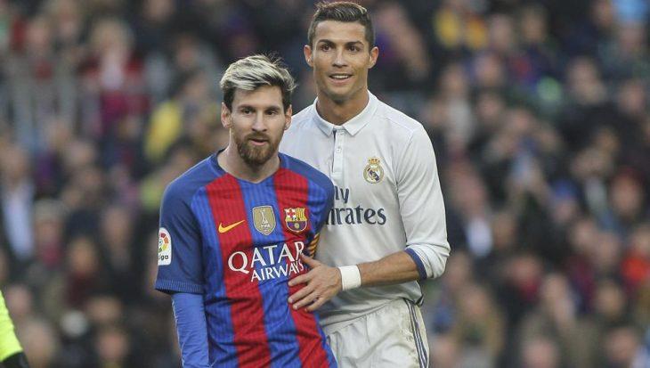 Messi y Cristiano en un clásico