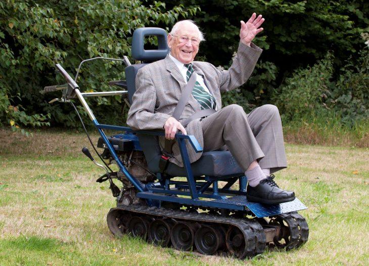 veterano en tanque silla