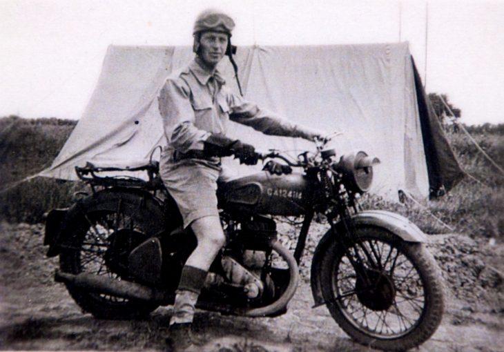 veterano guerra moto