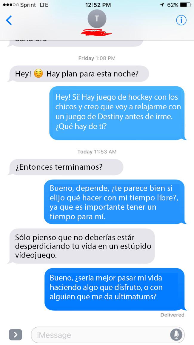 novia texto