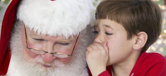 Santa Claus con un niño