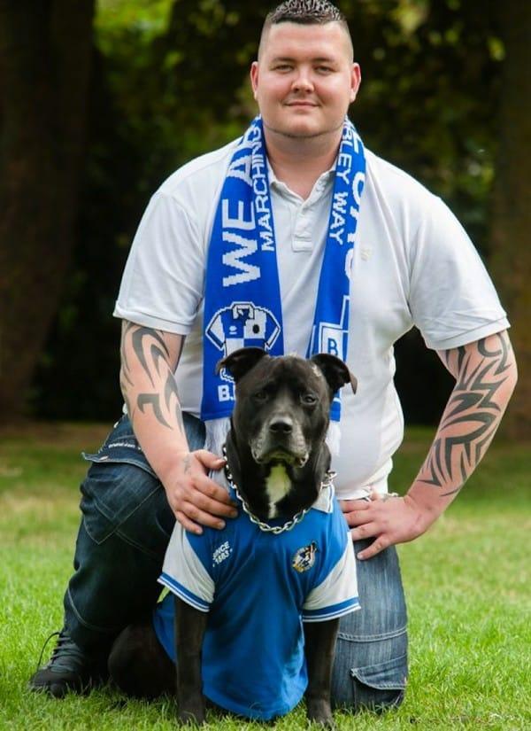 Byron y su perro Geo