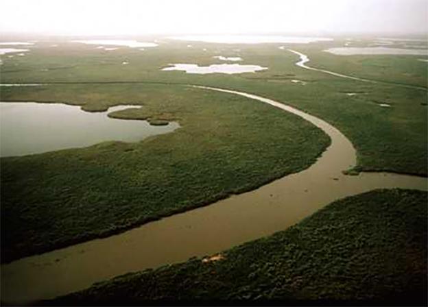 Vista aérea de Sudán