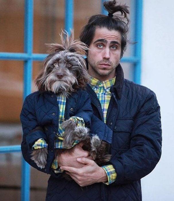 perro y dueño mismo peinado