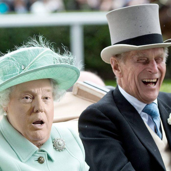 Trum y la reina Isabel sorprendido