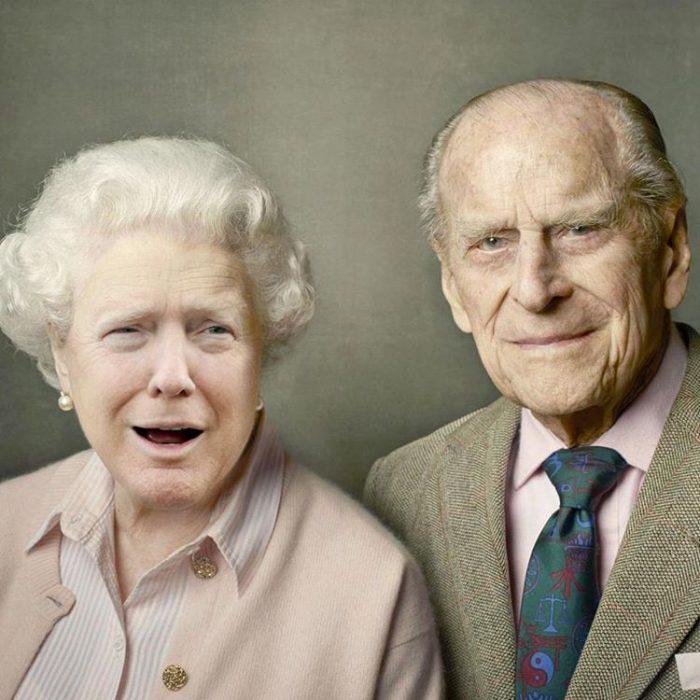 Trum y la reina Isabel y su esposo