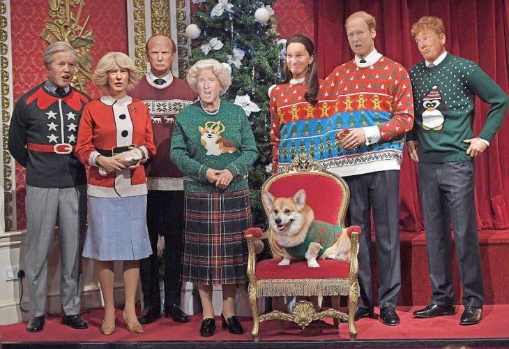 Trum y la reina Isabel foto familiar navidad
